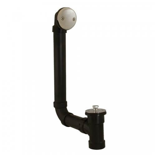Bath Waste T-Waste Full Kit - CP Lift & Turn Drain w/ 2 Hole Face Plate (ABS) Product Image