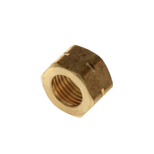 "1/2"" to 14"" x 9/16"" Regular Brass Basin Nut (Box of 10) Product Image"