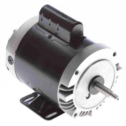 "Capacitor Start NEMA ""C"" Face Rigid Base Motor, 1/3 HP, 3450 RPM (115/230V) Product Image"