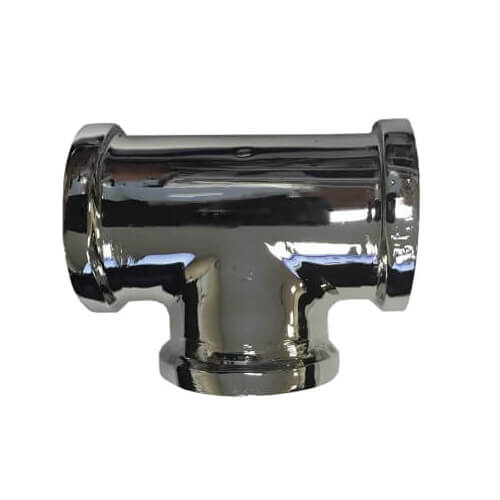 """3/4"""" Chrome Plated Bronze Tee (Lead Free) Product Image"""