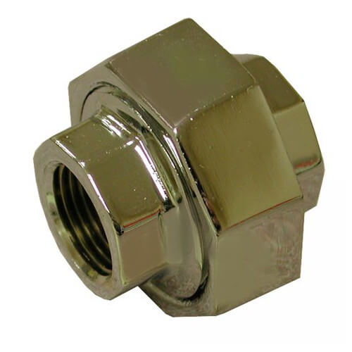 "3/4"" Chrome Plated Bronze Union (Lead Free) Product Image"