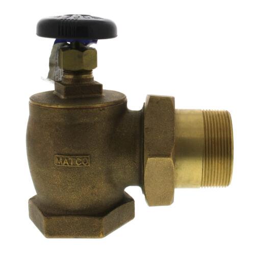 "2"" (FIP x Male Union) Bronze Steam Angle Radiator Valve Product Image"