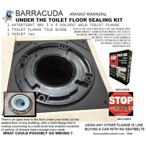 Barracuda ABS Under the Toilet Floor Sealing Kit Product Image