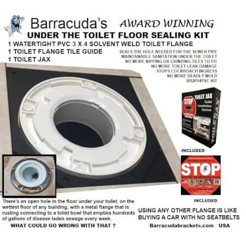Barracuda PVC Under the Toilet Floor Sealing Kit Product Image