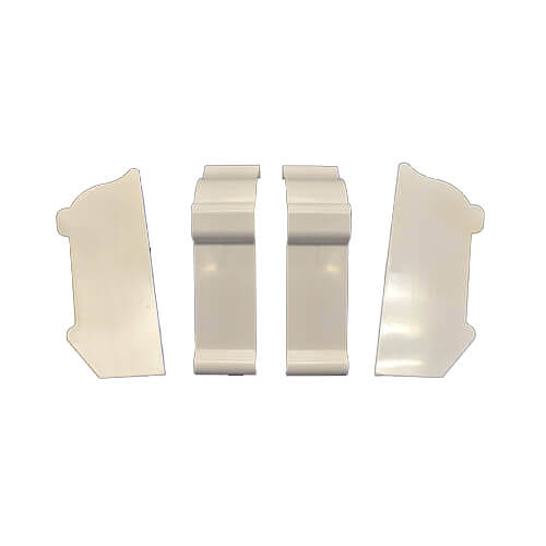 Complete End Cap Set (White) Product Image