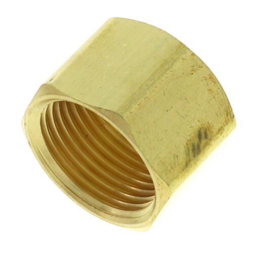 "1/2"" OD Brass Compression Cap (Lead Free) Product Image"
