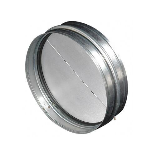 "BDD8R 8"" Round Duct Metal Back Draft Damper Product Image"