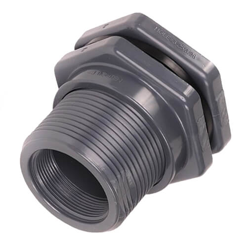 "3/4"" CPVC Bulkhead Fitting w/ EPDM Gasket (Thread x Thread) Product Image"