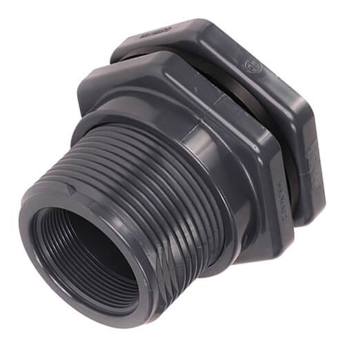 "1"" CPVC Bulkhead Fitting w/ EPDM Gasket (Socket x Thread) Product Image"