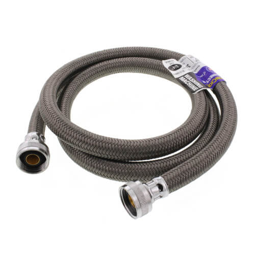 "3/4"" x 5' Washing Machine Braided Hose Connector Product Image"