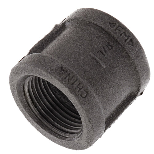 """1"""" Black Malleable Iron Right & Left Coupling Product Image"""