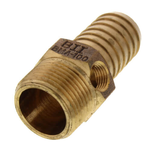"1"" MPT x Insert - 1/4"" Tapped Male Adapter (Lead Free) Product Image"