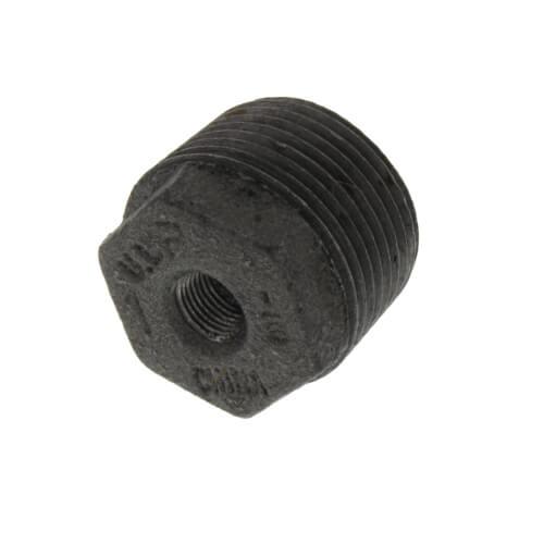 """1"""" x 1/8"""" Black Hex Bushing Product Image"""