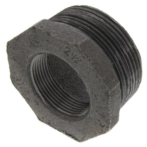 """2-1/2"""" x 1-1/2"""" Black Hex Bushing Product Image"""