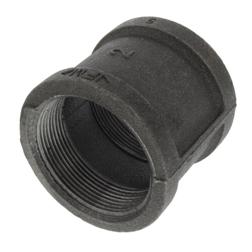 "2"" Black Malleable Iron Right & Left Coupling Product Image"