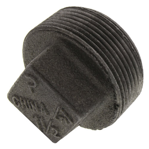 """1-1/2"""" Black Plug Product Image"""