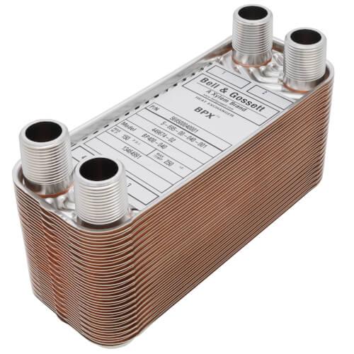225,000 BTU/Hr Low Pressure BPX Brazed Plate Heat Exchanger Product Image