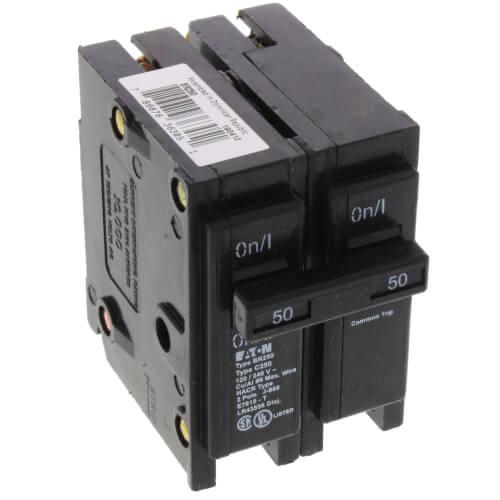 2-Pole Eaton Interchangeable Circuit Breaker (50A, 120/240V) Product Image