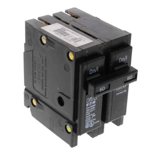 2-Pole Eaton Interchangeable Circuit Breaker (60A, 120/240V) Product Image