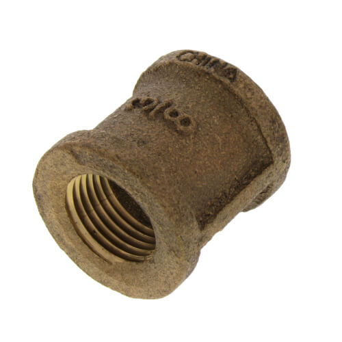 "3/8"" FIP Brass Coupling (Lead Free) Product Image"