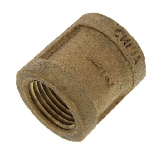 """1/2"""" FIP Brass Coupling (Lead Free) Product Image"""