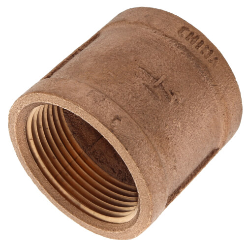 """1-1/4"""" FIP Brass Coupling (Lead Free) Product Image"""