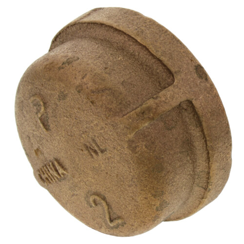 """2"""" Threaded Brass Cap (Lead Free) Product Image"""