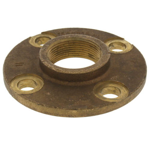 """1-1/2"""" FNPT Brass Companion Flange, 150 psi (Lead-Free) Product Image"""
