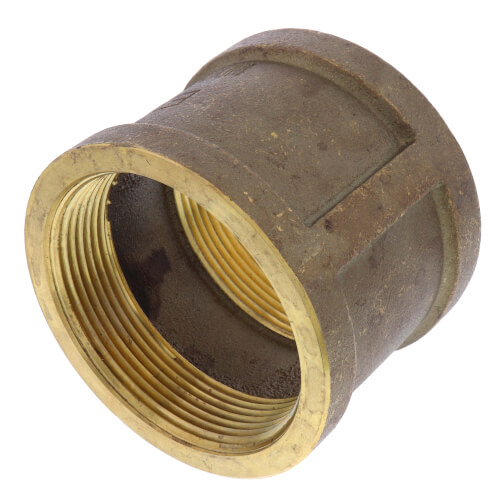 """3"""" FIP Brass Coupling (Lead Free) Product Image"""