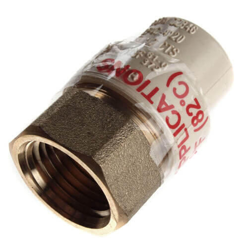"""1/2"""" CPVC x Female Brass Adapter (Lead Free) Product Image"""