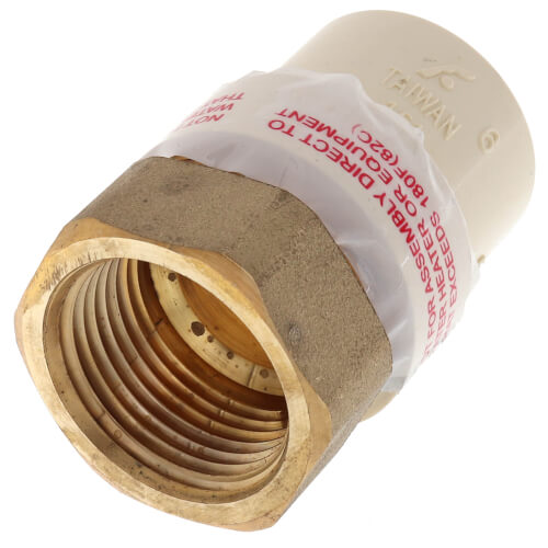 """3/4"""" CPVC x Female Brass Adapter (Lead Free) Product Image"""