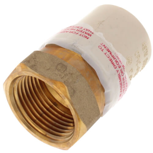 """1"""" CPVC x Female Brass Adapter (Lead Free) Product Image"""
