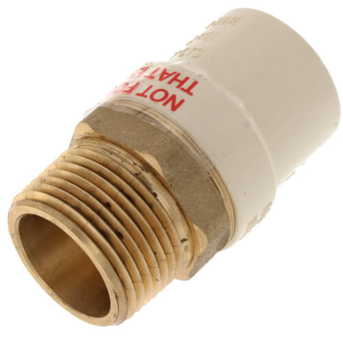 """1"""" CPVC x Male Brass Adapter (Lead Free) Product Image"""