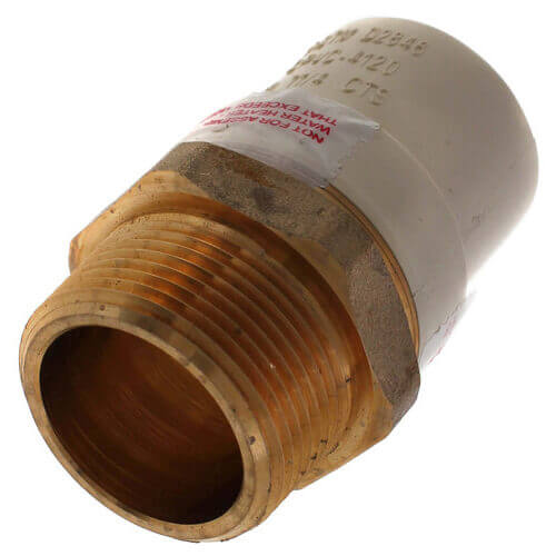 "1-1/4"" CPVC x Male Brass Adapter (Lead Free) Product Image"