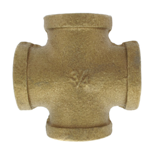 """3/4"""" Threaded Brass Cross (Lead Free) Product Image"""