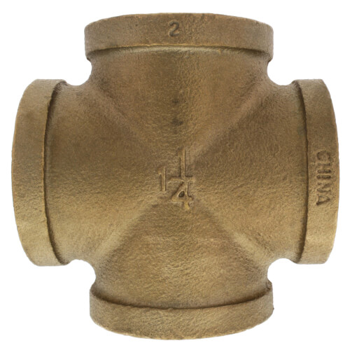 "1-1/4"" Brass Cross (Lead Free) Product Image"