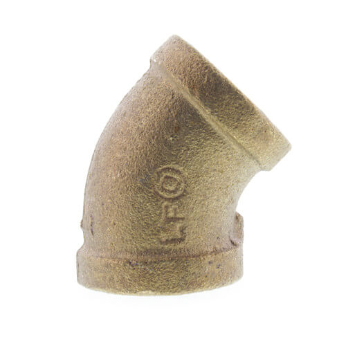 "1/2"" FIP x FIP 45° Brass Elbow (Lead Free) Product Image"