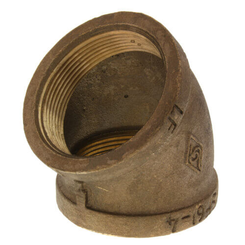 """3"""" 45° Brass Elbow (Lead Free) Product Image"""