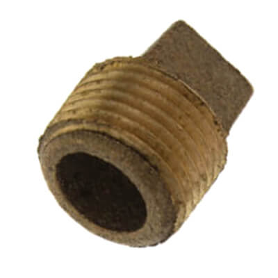 "1/8"" Brass Plug, Cored (Lead Free) Product Image"