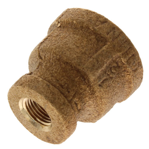 """1/2"""" x 1/8"""" FIP Brass Coupling (Lead Free) Product Image"""