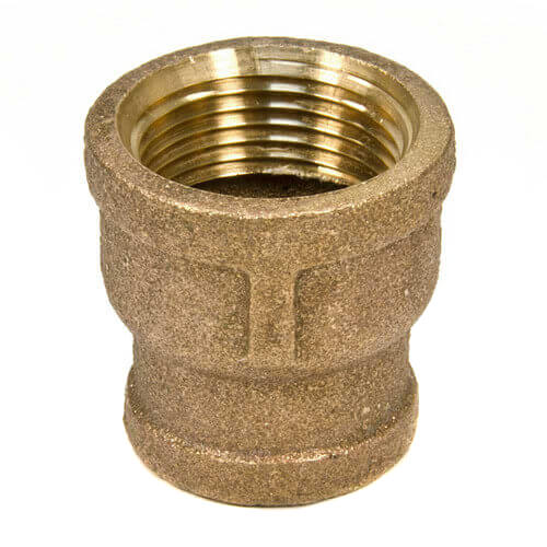 """1"""" x 3/8"""" FIP Brass Coupling (Lead Free) Product Image"""