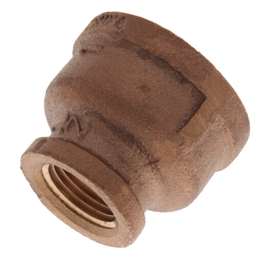 "1"" x 1/2"" FIP Brass Coupling (Lead Free) Product Image"