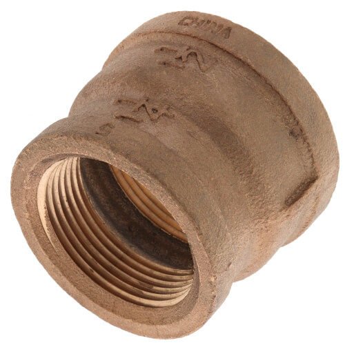 "1-1/2"" x 1-1/4"" FIP Brass Coupling (Lead Free) Product Image"