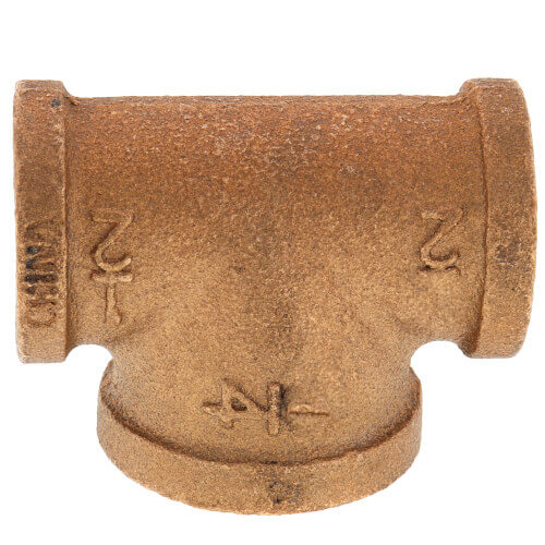 "1/2"" x 1/2"" x 1/4"" Reducing Brass Tee (Lead Free) Product Image"