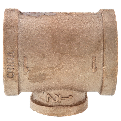 """1"""" x 1"""" x 1/2"""" Reducing Brass Tee (Lead Free) Product Image"""