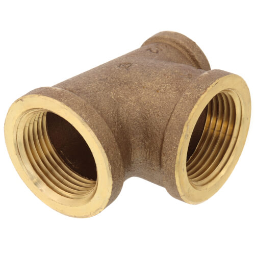 "1"" x 1/2"" x 1"" Reducing Brass Tee (Lead Free) Product Image"