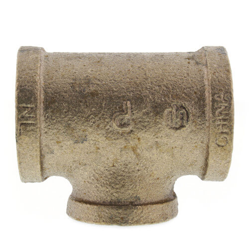 """1"""" x 1"""" x 3/4"""" FIP Brass Tee (Lead Free) Product Image"""