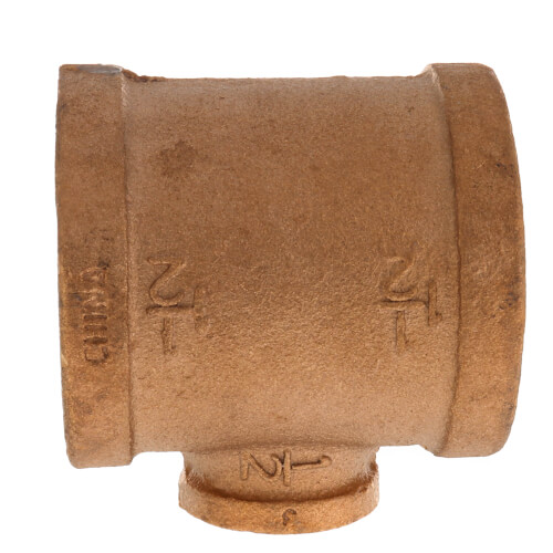 """1-1/2"""" x 1-1/2"""" x 1/2"""" FIP Brass Tee (Lead Free) Product Image"""