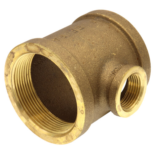 "2"" x 2"" x 3/4"" Reducing Brass Tee (Lead Free) Product Image"