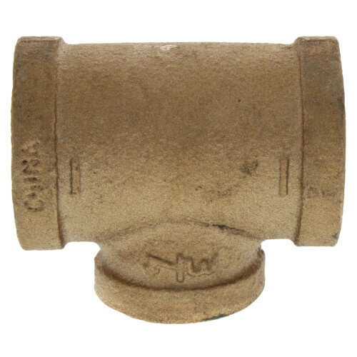 "2"" x 2"" x 1-1/4"" Reducing Brass Tee (Lead Free) Product Image"